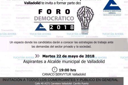 Aspirantes a la alcaldía de Valladolid se someterán a cuestionamiento de empresarios