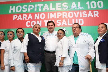 Mauricio Sahuí presenta la estrategia de salud 'Hospitales al 100'