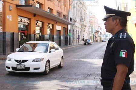 Con equipamiento y capacitación reducen el robo a peatones en el centro de Mérida