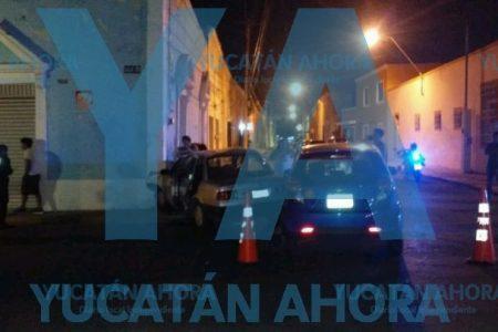 Accidente en la esquina de los choques en Santa Ana