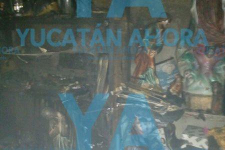 Incendio le arruina su siesta en el sur de Mérida