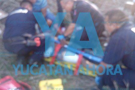 Chocan y abandonan a ocho lesionados en la carretera Mérida-Acanceh