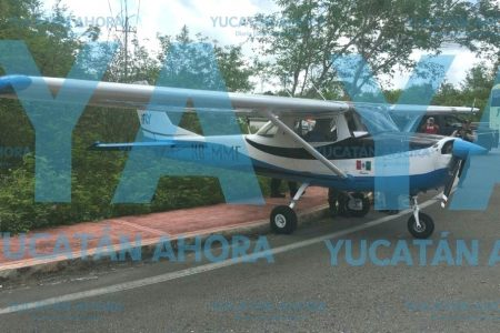 Avioneta se queda sin combustible en vuelo de Mérida a Cozumel