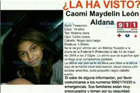 Piden ayuda para localizar a joven de 18 años desaparecida desde el domingo