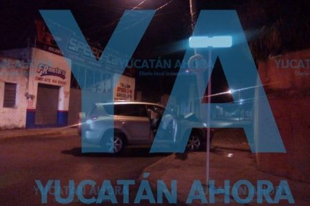 Céntrico y electrizante choque de madrugada en Mérida