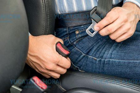 Solo el 10% de los accidentados usaba el cinturón de seguridad