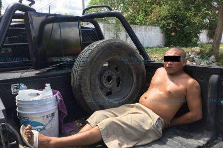 Sorprenden a ladrones de casas en Chuburná: se llevan dos televisiones