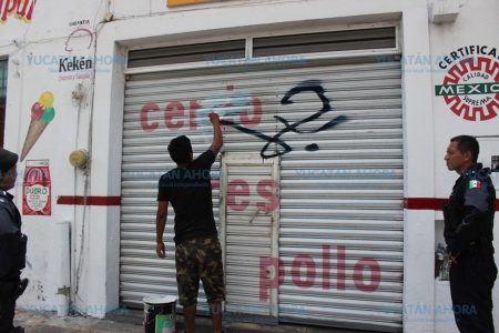 Disminuyen las pintas en paredes del Centro Histórico de Mérida