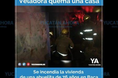 Una veladora quema la casa de una abuelita yucateca de 76 años