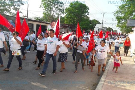Movimiento Antorchista respalda a Mario González en Tizimín