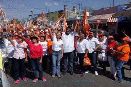 Caravana de Movimiento Ciudadano en Kanasín