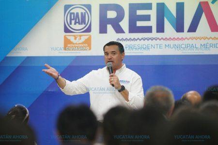 Conservemos todo lo bueno que hemos logrando en Mérida: Renán Barrera