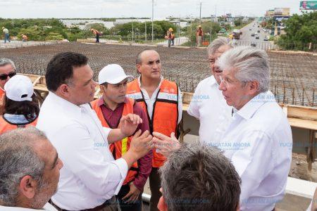 A un 75 % de avance los trabajos en el puente Periférico – Progreso