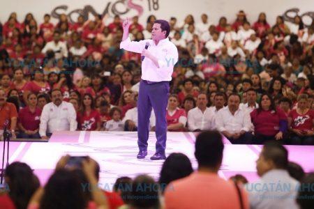 Mi gobierno será el gobierno de las mujeres: Mauricio Sahuí