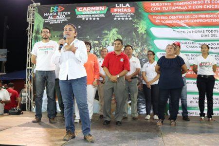 Sobre salud y agua potable los principales compromisos de Carmen Ordaz en Progreso