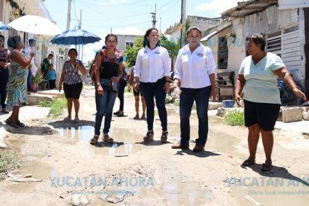 Carmen Ordaz irá duro contra los baches y calles malas de Progreso
