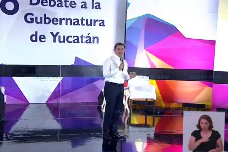 Mauricio Sahui asegura en el debate que es el mejor preparado para hacer un Yucatán mejor