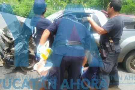 Encontronazo en el sur de Yucatán: cuatro lesionados