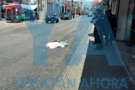 Fatal atropellamiento en el centro de Mérida: camión le aplasta la cabeza