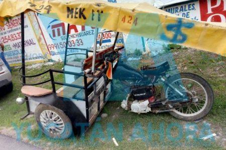 Choque mototaxi vs camión: un fracturado
