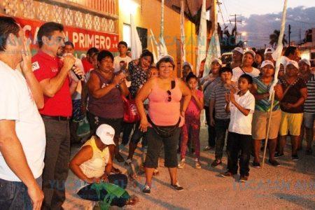Me comprometo A mejorar el distrito III, asegura Efraín Aguilar en Juan Pablo