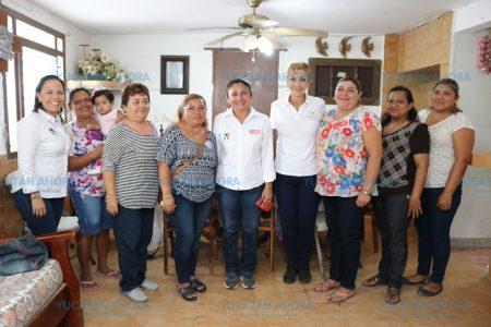Carmen Ordaz ofrece que Progreso tendrá una casa de la mujer