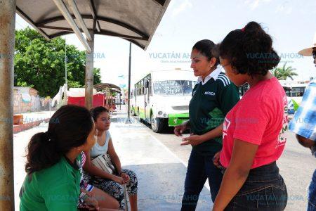 Carmen Ordaz ofrece transporte público digno en Progreso