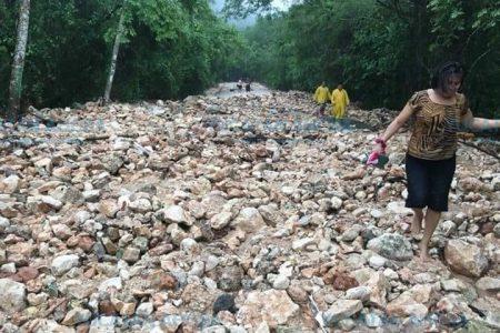 Lluvias provocan desastre en el Cono Sur de Yucatán