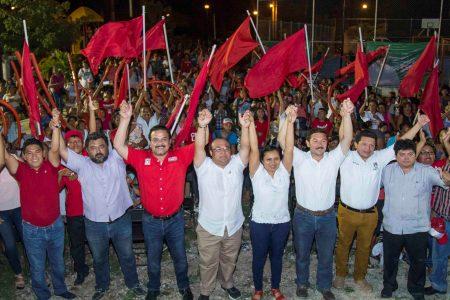 Con muchos votos vamos a llevar a Mauricio Sahuí a la gubernatura: PRI