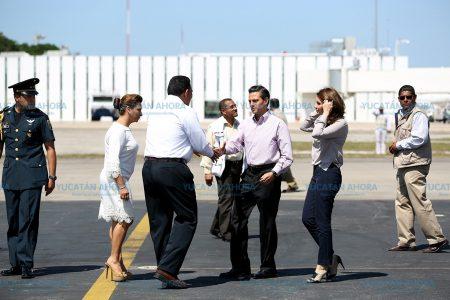 Rápida visita del presidente Enrique Peña Nieto a Yucatán
