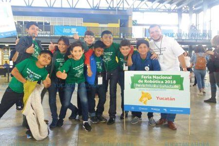 Niños yucatecos ganan concurso de robótica en la Ciudad de México