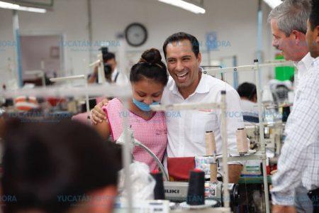 Mejoraremos salarios, apoyos e igualdad de género a yucateca: Vila