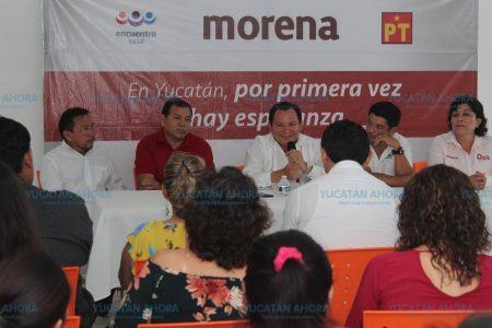 Promete Huacho Díaz nivelación salarial a maestros del Cobay, Conalep y Cecytey