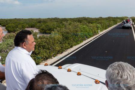 Vía mejorada y alternativa para llegar a las playas de Chuburná