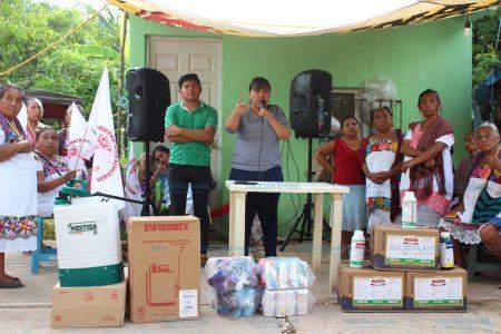 Más apoyos para productores agrícolas y artesanos del oriente yucateco