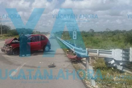 Una llanta le arruina el paseo a familia quintanarroense en la vía Mérida-Chetumal