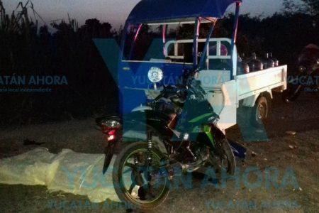 Fallece ebrio y joven motociclista tras chocar con un mototaxi