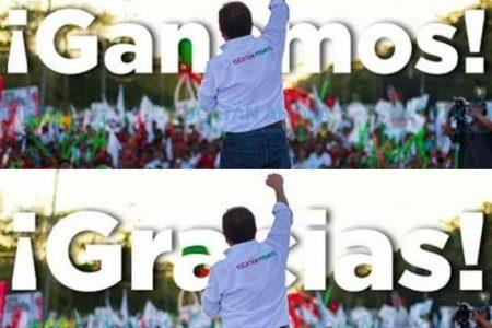 Mauricio Sahuí, del 'Ganamos' del domingo al 'Gracias' de hoy