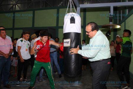 Inauguran gimnasio de box en Kanasín
