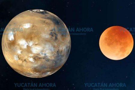 Marcha nupcial entre Marte y la Luna esta noche, a partir de las 8
