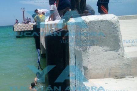 Rescatista de SSP salva a bañista de ahogarse en el mar