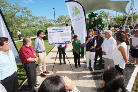 El último día de la administración municipal reciben el parque por el que tanto lucharon