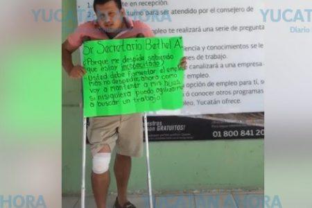 Denuncia despido injustificado de la Secretaría del Trabajo de Yucatán