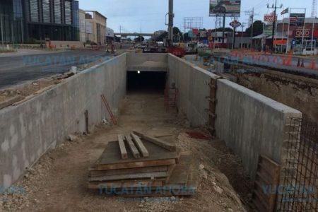 En su etapa final de construcción el túnel subterráneo de la calle 60 Norte cerca de Periférico