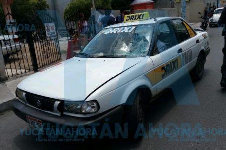 Taxi embiste a un abuelito de 79 años en el sur de Mérida