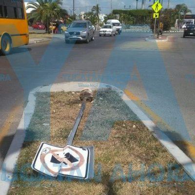 Vino a Mérida desde la Huerta del Estado y se metió en líos de tránsito