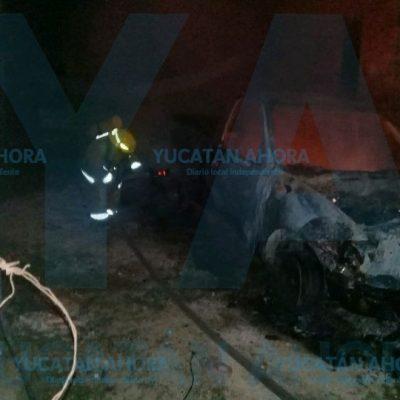 Explosivo despertar en la madrugada: se quema su camioneta
