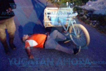 Lo sorprende la muerte manejando su triciclo