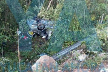 Accidente femenil: cuatro mujeres caen de un puente en la Mérida-Cancún