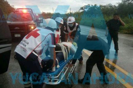 Encontronazo en la carretera Temozón-Calotmul: tres lesionados